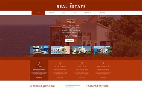 joomla templates real estate real estate agency joomla template 47913