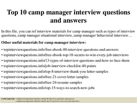 top 10 c manager questions and answers