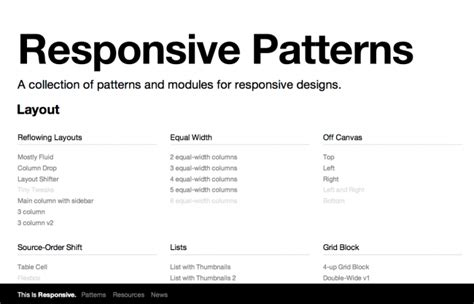 Pattern Library Responsive | this is responsive brad frost
