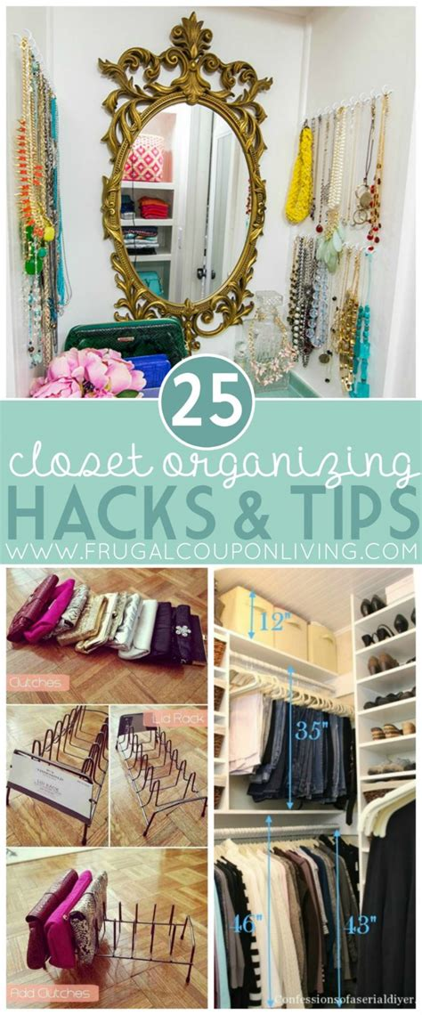 organizing hacks closet organizing hacks tips