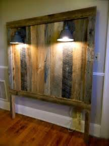 headboard made of barn wood diy