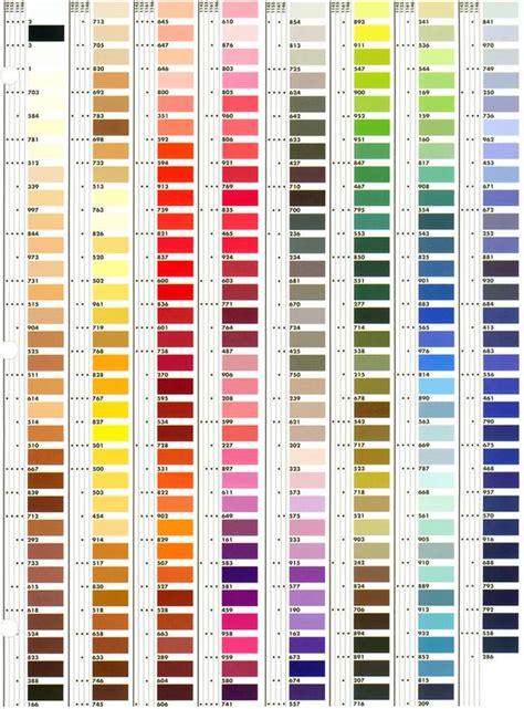 thread color chart heirlooms forever mettler metrosene thread