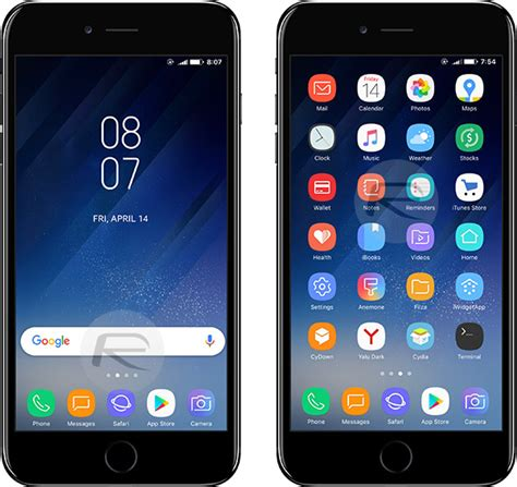 iphone themes for samsung galaxy y how to get galaxy s8 launcher theme on iphone running ios 10