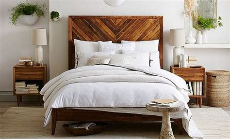 west elm back to nature bedroom love the bed and plant
