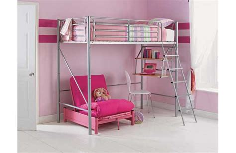 pink futon bunk bed with desk pink futon bunk bed with desk bm furnititure