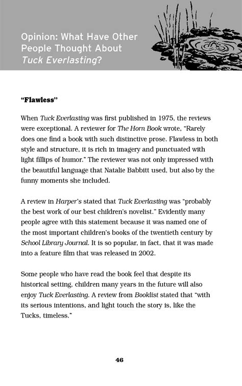 Tuck Essays by Tuck Everlasting Book Summary Www Pixshark Images Galleries With A Bite