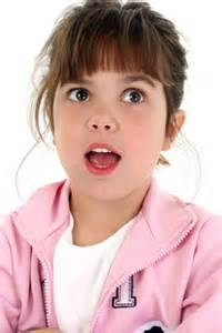 Beautiful five year old girl looking surprised 5 minutes for faith