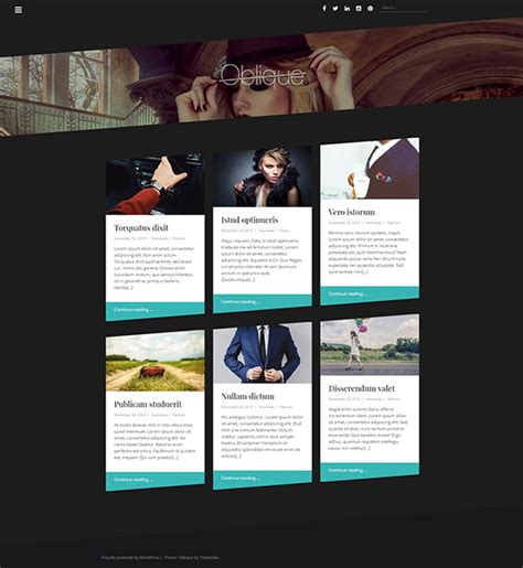 theme wordpress oblique oblique free wordpress blogging theme beautiful themes