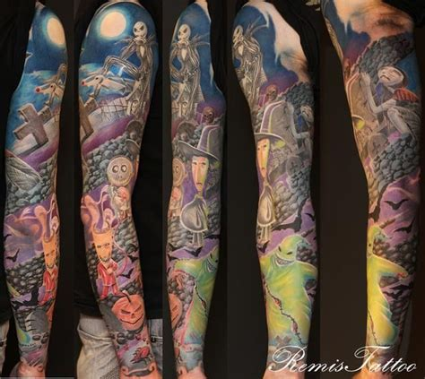 tattoo ointment before bed nightmare before christmas tattoo tattoos sleeve nbc