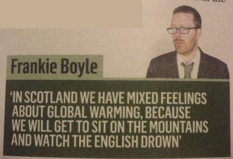 global warming frankie boyle quote ~ funny joke pictures