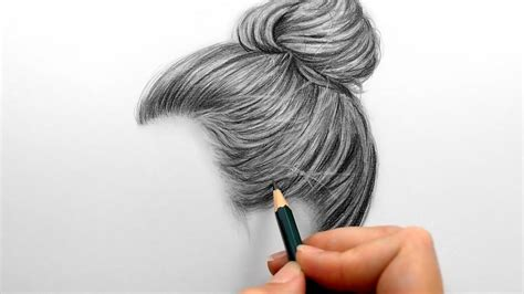 Drawing Hair by Drawing And Shading A Realistic Hair Bun With Graphite
