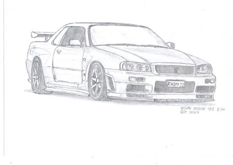 nissan skyline drawing skyline car drawing www pixshark com images galleries
