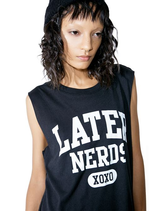 Top 7 Nerds by Social Decay Later Nerds Tank Top Dolls Kill