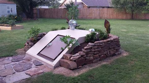 backyard storm shelter ways to decorate your storm shelters yard ideas pinterest decorating and storm