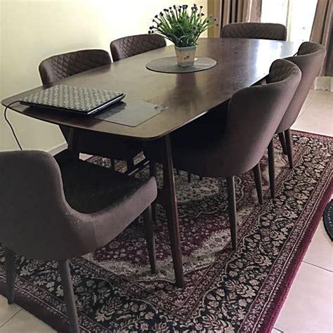 set meja makan 6 kerusi from ssf home furniture