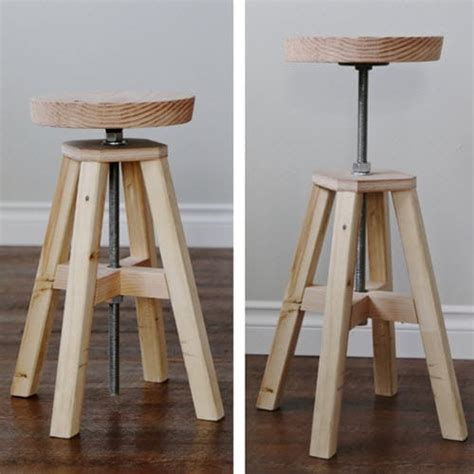 How To Make A Stool by How To Build An Adjustable Height Wood And Metal Stool