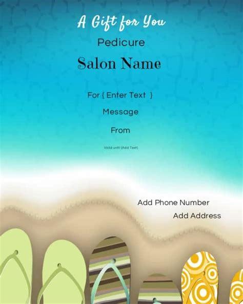 nail salon gift card template nail salon gift certificates free nail salon gift