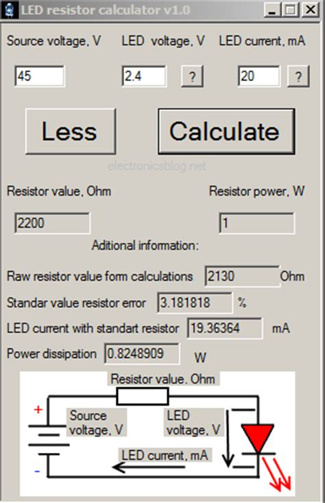 led and resistor calculator todo t 233 cnico y m 225 s programa para determinar la resistencia en serie de un led led resistor