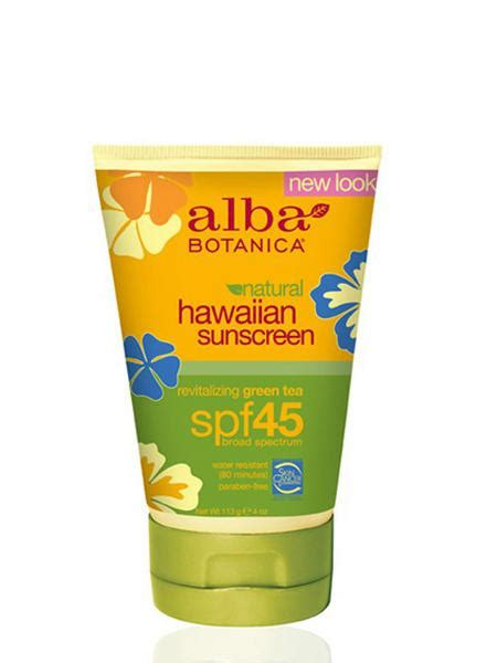 Sunblock Green Tea Spf 45 Farmasi Suncare Gren Tea Spf 45 Water Proof green tea hawaiian spf 45 sunscreen in 118ml from alba botanica