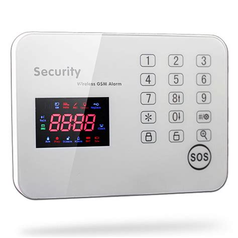 touch keypad gsm alarm system app operation home security
