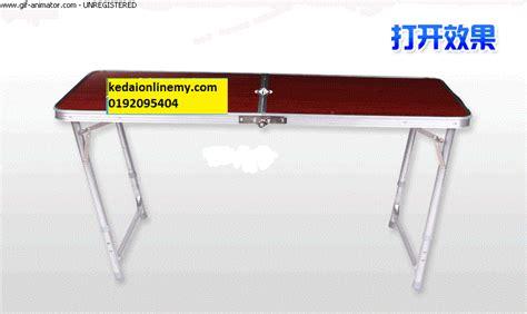 Meja Lipat Aluminium meja lipat berkelah aluminium keluarga kedai