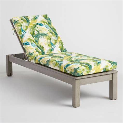 chaise papasan green palm outdoor chaise lounge cushion world market