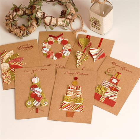 Handmade Greeting Card Business - aliexpress buy 2017 vintage paper 3d chirstmas