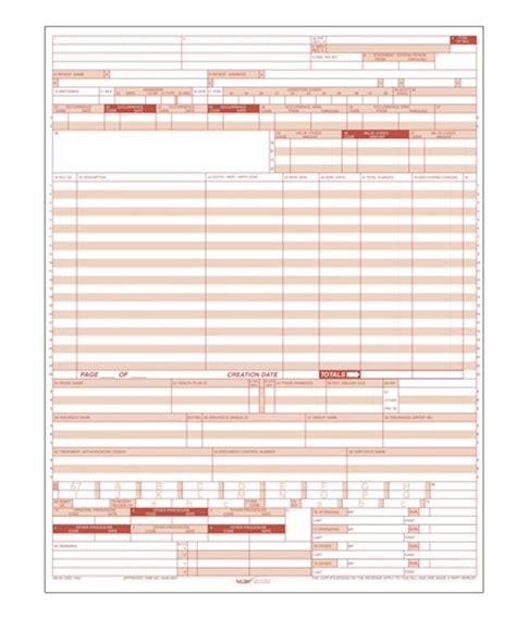 Bill Ub 04 Health Insurance Paper Claim Form Fiachra Forms Charting Solutions Claim Form Ub 04 Claim Form