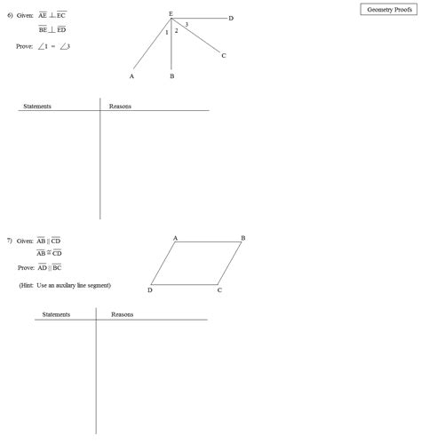 Geometric Proofs Worksheet by 11 Best Images Of Overlapping Triangle Proofs Worksheets