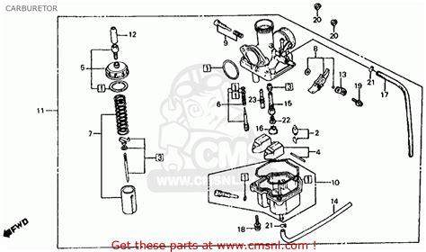 Honda Atc185s 1981 B Usa Carburetor Schematic Partsfiche