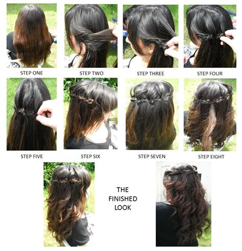 hairstyles curls step by step step by step how to waterfall braid step by step