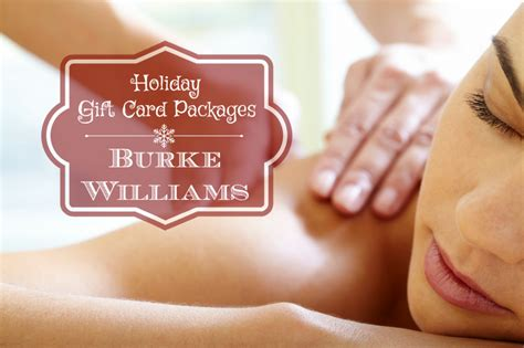 Burke Williams Gift Card - holiday gift card packages at burke williams balancing the chaos