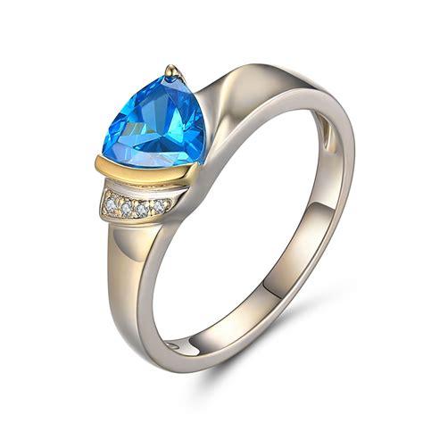 trillion cut aquamarine 925 sterling silver birthstone