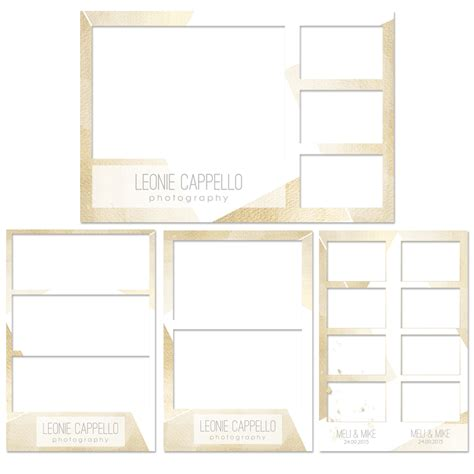 breeze photo booth layout breeze photobooth print layouts quot golden eye quot 4 er set