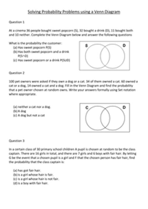 28 venn diagrams practice questions solutions by uk teaching venn diagram lesson resources tes ccuart Image collections