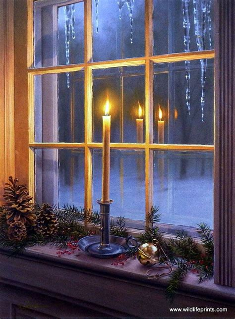 country window candle lights darrell bush warm reflections reflection cabin and window