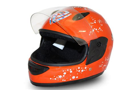 Helm Gm B2 helmet orange kinderhelm integralhelm fullface motorradhelm motocross