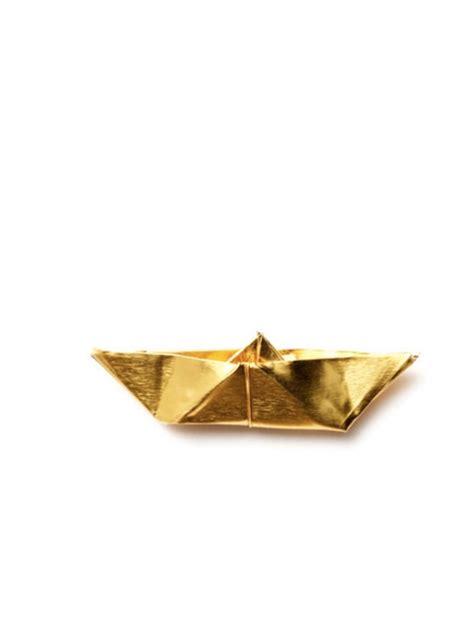 Gold Origami - origami boat gold de werkwinkel meer