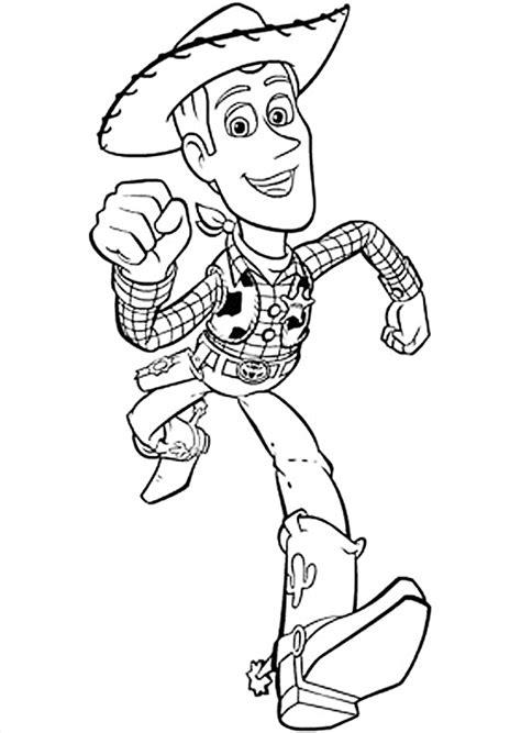 >Dibujo para colorear del vaquero Buddy de Toy Story Pixar