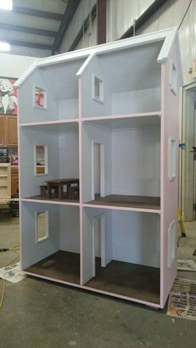 giant american girl doll house giant dollhouse for american girl dolls by benmarvin lumberjocks com woodworking