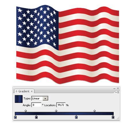 Vector Flag Tutorial | illustrator tutorial waving flag of the usa