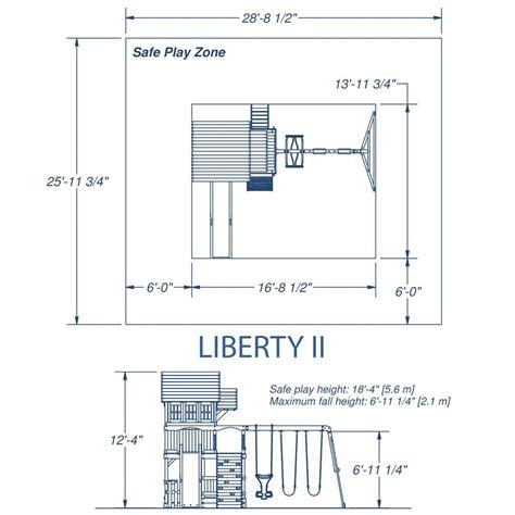 Backyard Discovery Liberty Ii Liberty Ii Wooden Swing Set