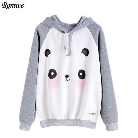 Jaket Hodie Footpint Panda aliexpress buy romwe casual hoodies pullover