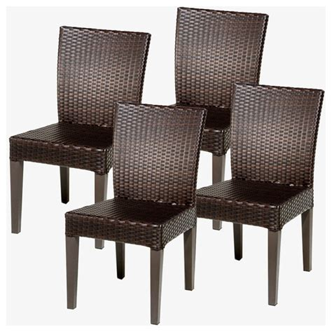 4 pluto saturn armless dining chairs modern outdoor