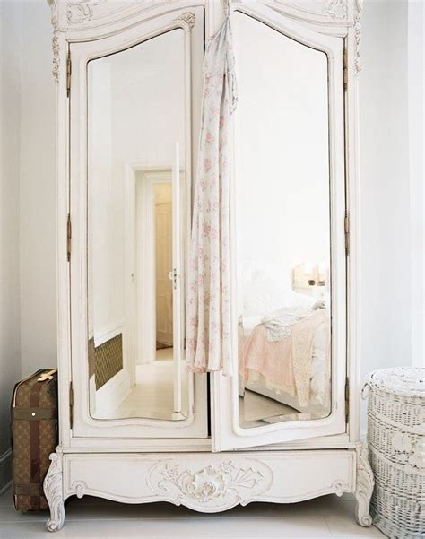 white armoire with mirrored door shabby chic armoire bedroom furniture decor pinterest