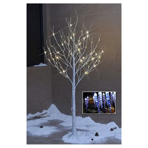 lightshare 6 led birch tree decoration light warm white