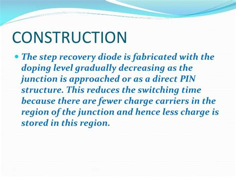 advantages of step recovery diode ppt step recovery diode powerpoint presentation id 2414931