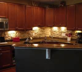 Stacked Stone Kitchen Backsplash Faux Stone Backsplash Great Ideas Pinterest