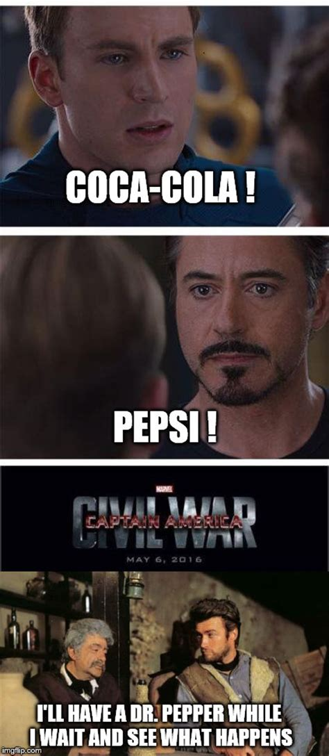 Pepsi Background Check A Of Memes Checks Out The Marvel Civil War Imgflip