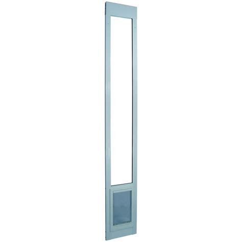 Ideal Pet Patio Door Ideal Pet 10 5 In X 15 In Large White Aluminum Pet Patio Door Fits 77 6 In To 80 4 In